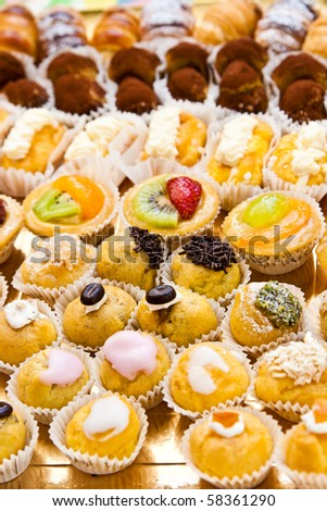 Pastry background from the party - stock photo