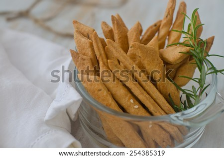 pastry cheese sticks - stock photo
