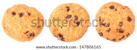 Pastry cookies isolated on white background - stock photo
