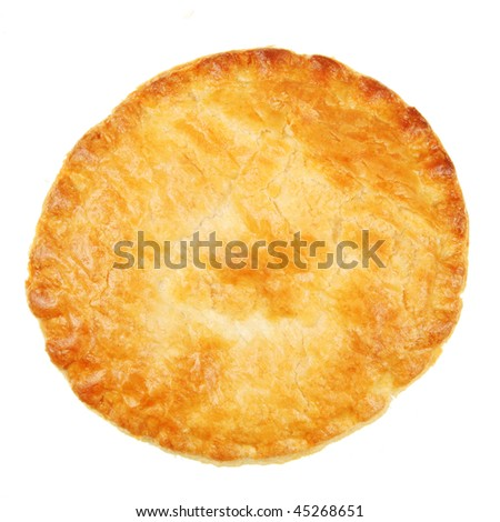 Pastry crust isolated on white - stock photo