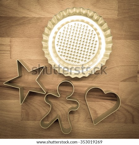 pastry cutters shaped - stock photo