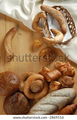 Pastry on a wood background - stock photo