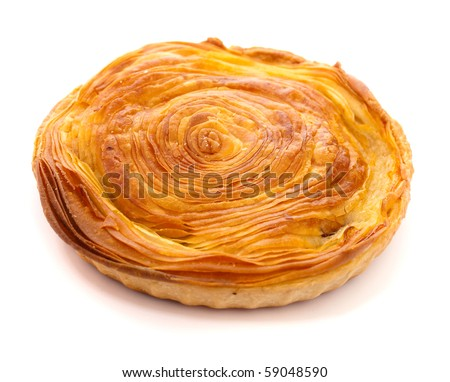 pastry on white background - stock photo