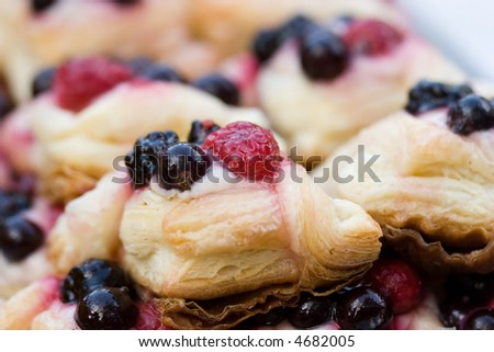 pastry with berries - stock photo