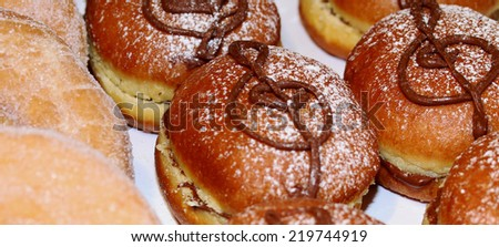 pastry with  treble clef of chocolate