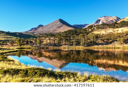 Patagonia landscapes in Southern Argentina - stock photo