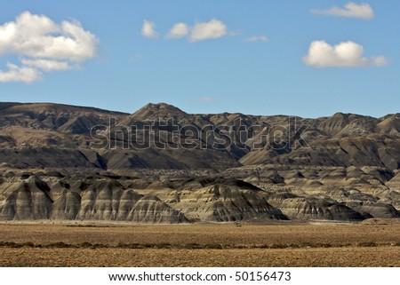 Patagonian desert - stock photo