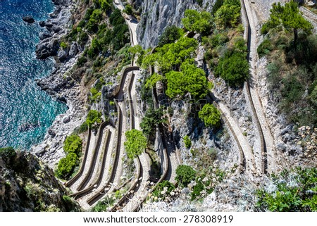 Patch on a Capri island in a beautiful summer day in Italy - stock photo