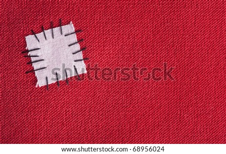 Patched cloth background - symbolic