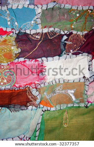 patchwork as background - stock photo