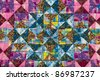 patchwork pattern - stock photo