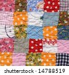 patchwork quilt baby blanket background - stock photo