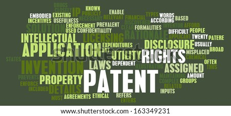 Patent Application as a Intellectual Property Art - stock photo