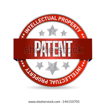 patent seal stamp illustration design over a white background - stock photo