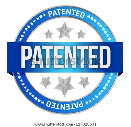 Patented intellectual property stamp illustration design graphic - stock photo