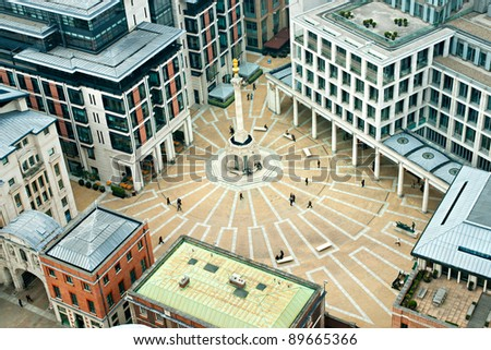 Paternoster Square, London. It is an urban development next to St Paul's Cathedral in the City of London, England - stock photo
