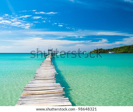 Path filled with Love - stock photo