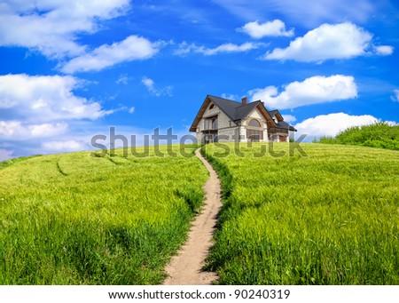 Path house - stock photo