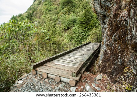 path in the mountain - stock photo