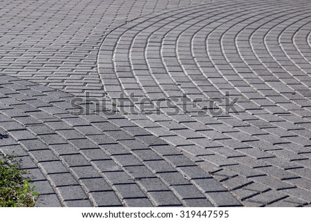 path of paving curves - stock photo