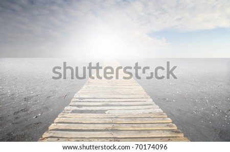 Path through the sand - stock photo