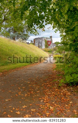 Path to Birr Castle in Co.Galway - Ireland. - stock photo