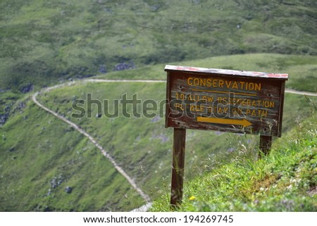 Path to the Ben Nevis summit - the highest mountain in the United Kingdom  - stock photo