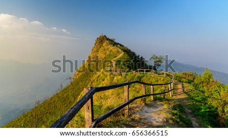 Path to the highest point. Chiang Rai, Thailand