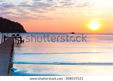 Path to the Night At the End of the Day  - stock photo