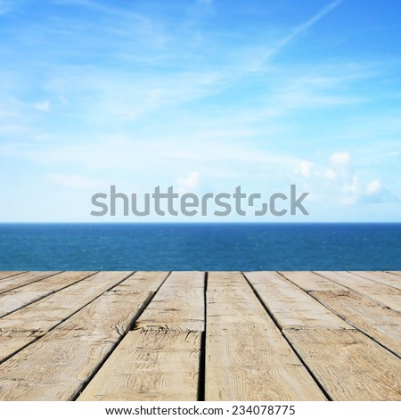 Path wooden on beach - stock photo