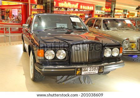 Bently stock images royalty free images vectors shutterstock pathum thani jun 22 vintage car bently mulsanne turbo great britain display at the voltagebd Image collections
