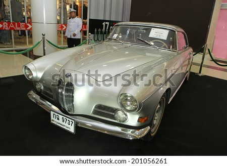 PATHUM THANI-JUN 22: Vintage Car BMW 503 Coupe Germany display at the 38th Vintage Car Concours, June 22, 2014 in Pathum thani, Thailand. - stock photo