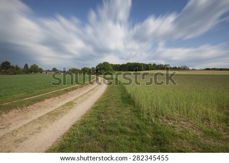 Pathway through rural landscape
