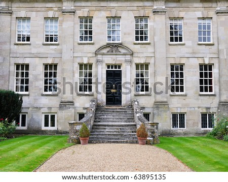Pathway to a Beautiful Mansion - stock photo