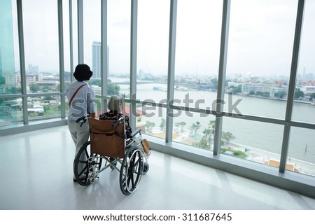 patient in hospital - stock photo