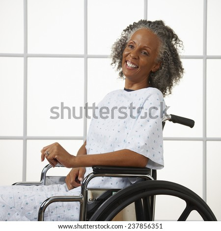 Patient in Wheelchair - stock photo