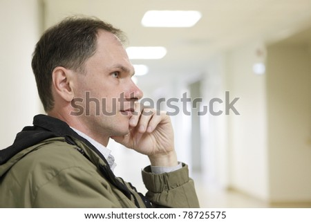 Patient waiting in the clinic for doctor appointment - stock photo