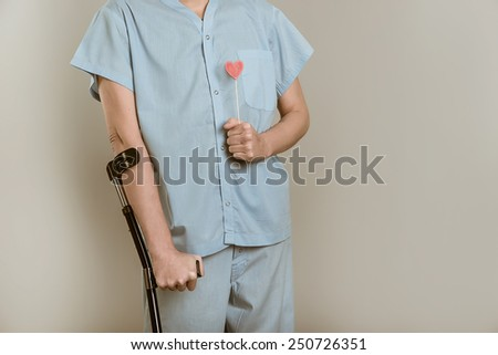 patient with the symbol Valentine - stock photo