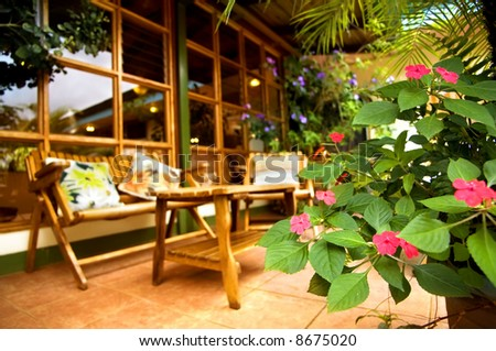 patio furniture - stock photo