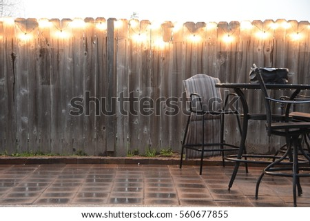 Patio Furniture In Rain Canceling Party