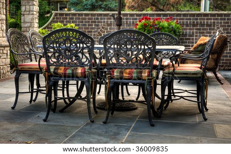Patio Table with Chairs - stock photo