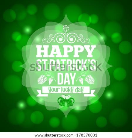 patrick day beer mug background illustration - stock photo