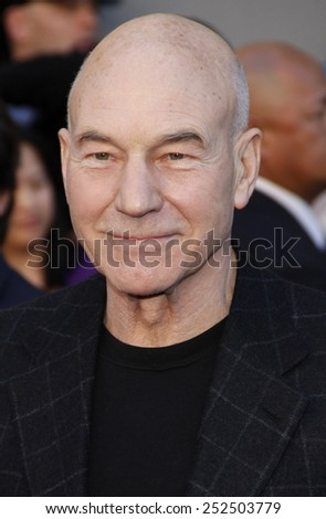 """Patrick Stewart at the Los Angeles Premiere of """"Gnomeo & Juliet"""" held at the El Capitan Theater in Hollywood, California, United States on January 23, 2010.  - stock photo"""