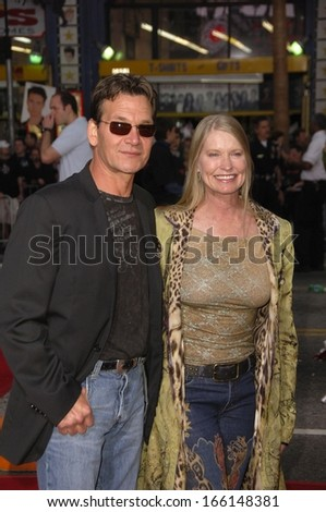 Patrick Swayze, Lisa Niemi at Mission Impossible III screening for Tom Cruise Fan Club, Grauman's Chinese Theatre, Los Angeles, CA, May 04, 2006 - stock photo
