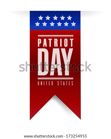 patriot day banner sign illustration design over a white background - stock photo