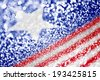 Patriotic American Flag red white and blue glitter sparkle background - stock photo