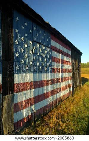 Patriotic Barn - stock photo