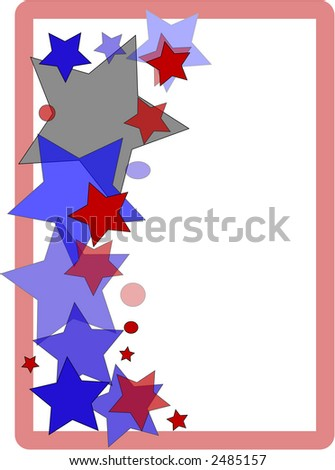 Patriotic Border Design Page