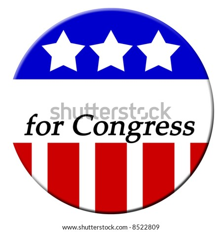 Patriotic buttons for the 2008 elections and vote - stock photo