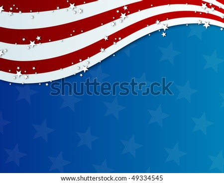 patriotic fourth of july background - stock photo
